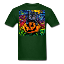 Load image into Gallery viewer, Halloween Kitten Unisex Classic T-Shirt - forest green