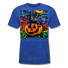 Load image into Gallery viewer, Halloween Kitten Unisex Classic T-Shirt - mineral royal