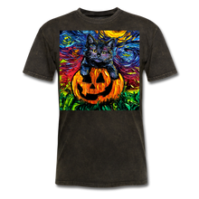 Load image into Gallery viewer, Halloween Kitten Unisex Classic T-Shirt - mineral black