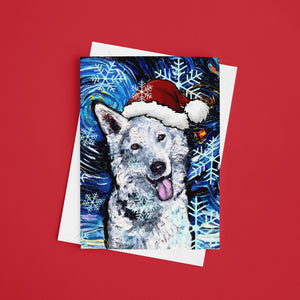 Swiss Shepherd Night, Christmas Greeting Card