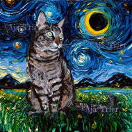 Tabby Night Canvas Print