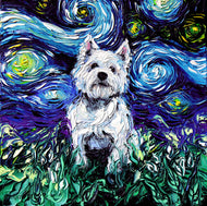 Westie Night Canvas Print