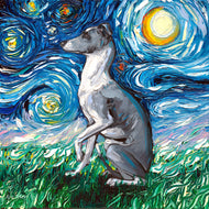 Whippet Night Canvas Print