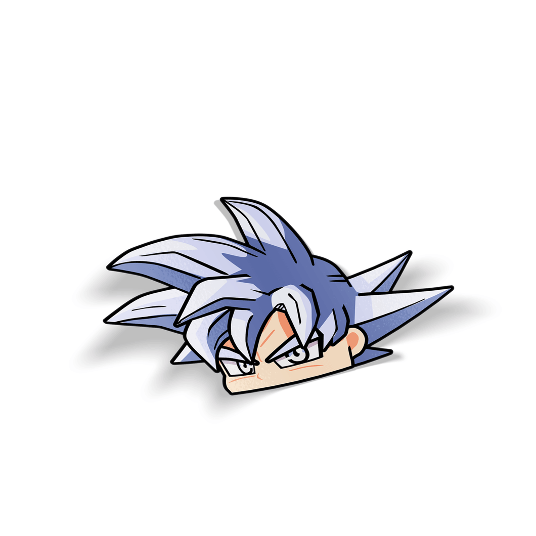 Ultra Instinct Goku Holographic Peeker Sticker