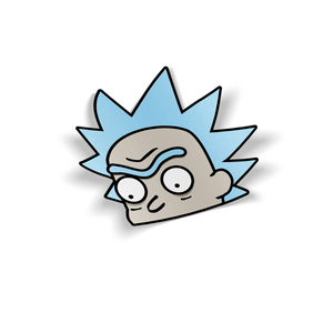 Rick Sanchez Holographic Peeker Sticker