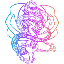 Load image into Gallery viewer, Ancient Glowing Rainbow Psychic Dragon Soft Enamel Pin