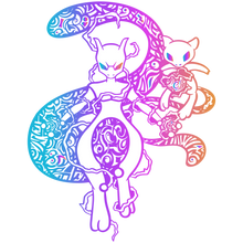 Load image into Gallery viewer, Ancient Glowing Rainbow Psychic Duo Soft Enamel Pin