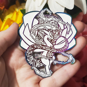 Ancient Glowing Rainbow Psychic Dragon Soft Enamel Pin