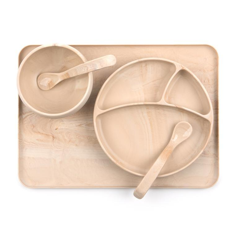 Wood Silicone Sunction Wonder Plate - Bella Tunno