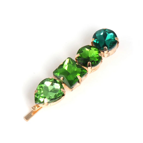Lila Green Rhinestone Hair Clip; Girl Hair Accessories Canada