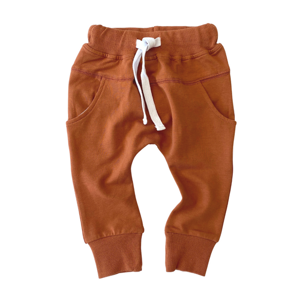 Joggers (Rust) - Little Bipsy