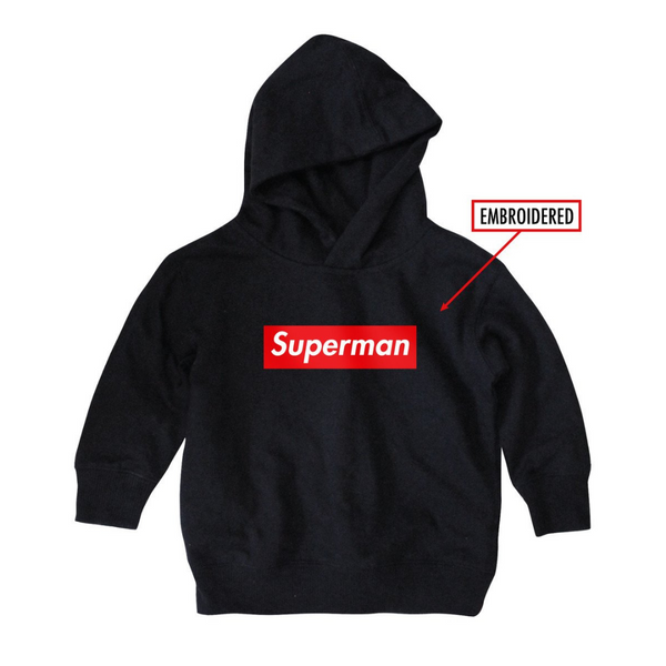 Supman Hoody Embroidered - Paper Plain