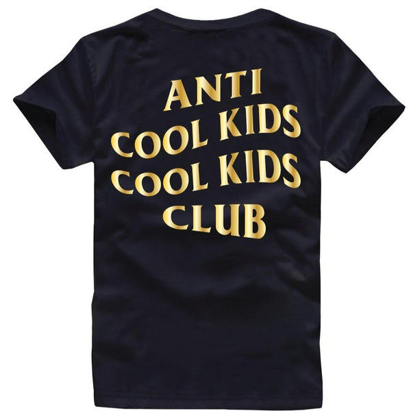 Anti Cool Kids Tee Gold/Black - Paper Plain