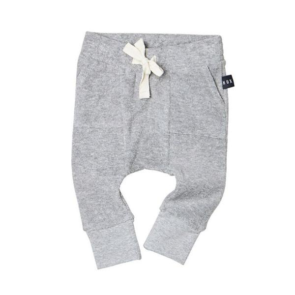 Grey Pocket Drop Crotch Pant - Huxbaby