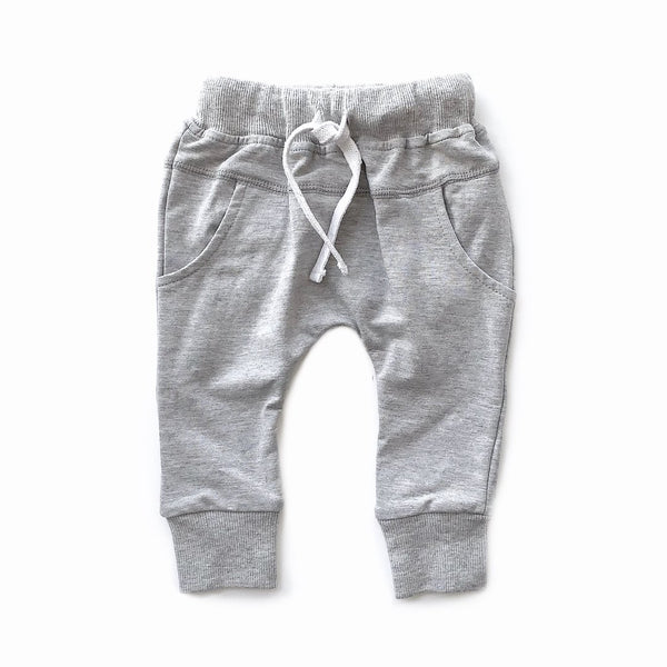 Joggers (Grey) - Little Bipsy