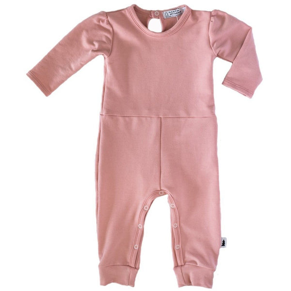 Gathered Romper (Blush Rose) - North Kinder
