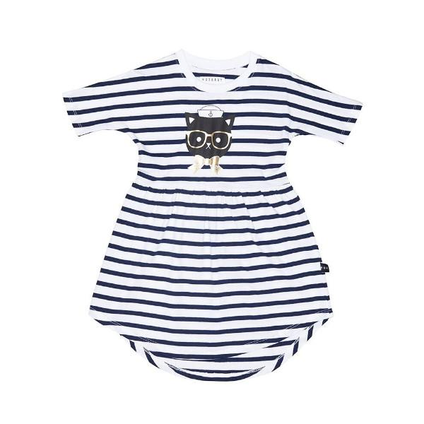 Stripe Swirl Dress - Huxbaby
