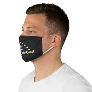Pickleball Fabric Face Mask Black (AlienX)