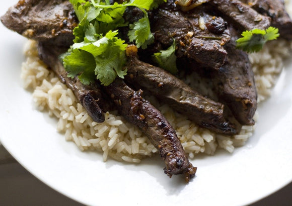 wagyu or angus beef hearts cooked with rice order online