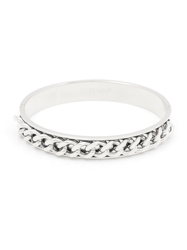 Half Linked Bangle Bracelet