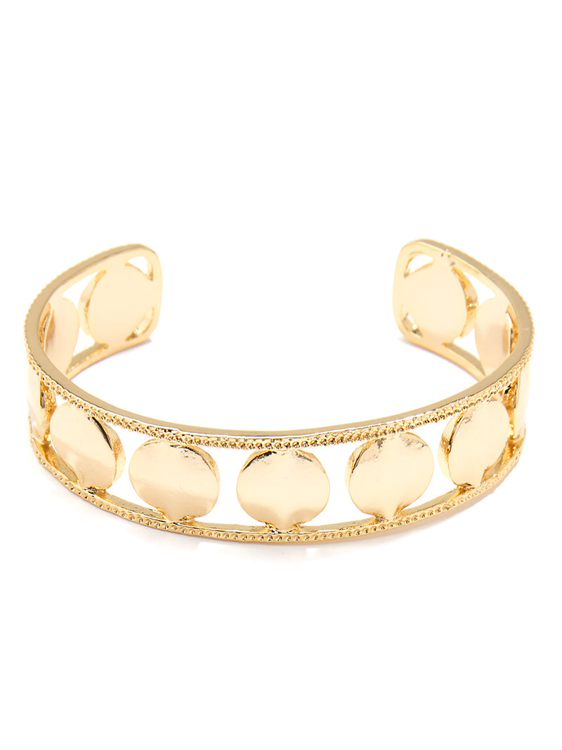 Sleek Circles Cuff Bracelet