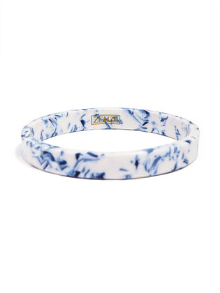 Blue Marbled Acetate Bangle
