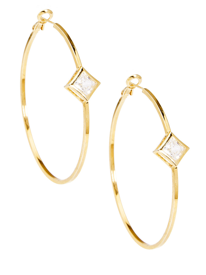 Marilyn Single-Stone Hoop Earrings