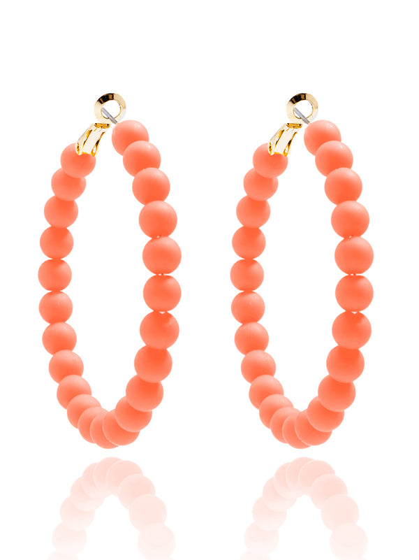 Lola Beaded Hoop Earring