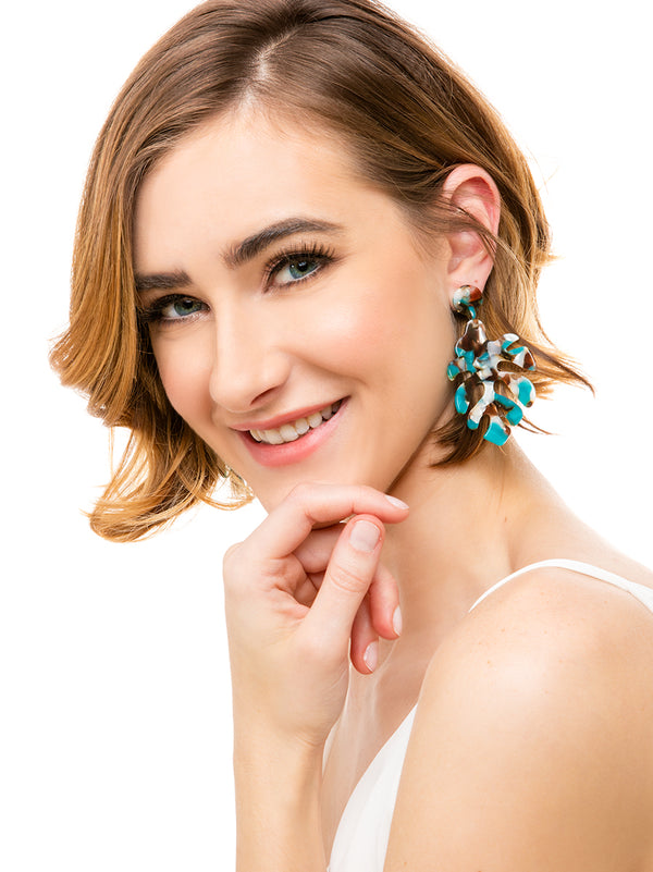 Tropical Torti Leaf Earring