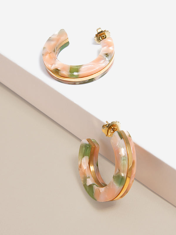 Sleek Torti Hoop Earring