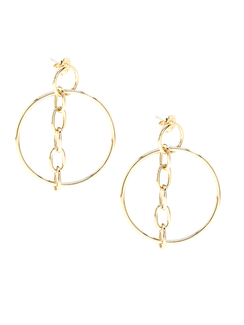 Hoops and Chains Drop Earring
