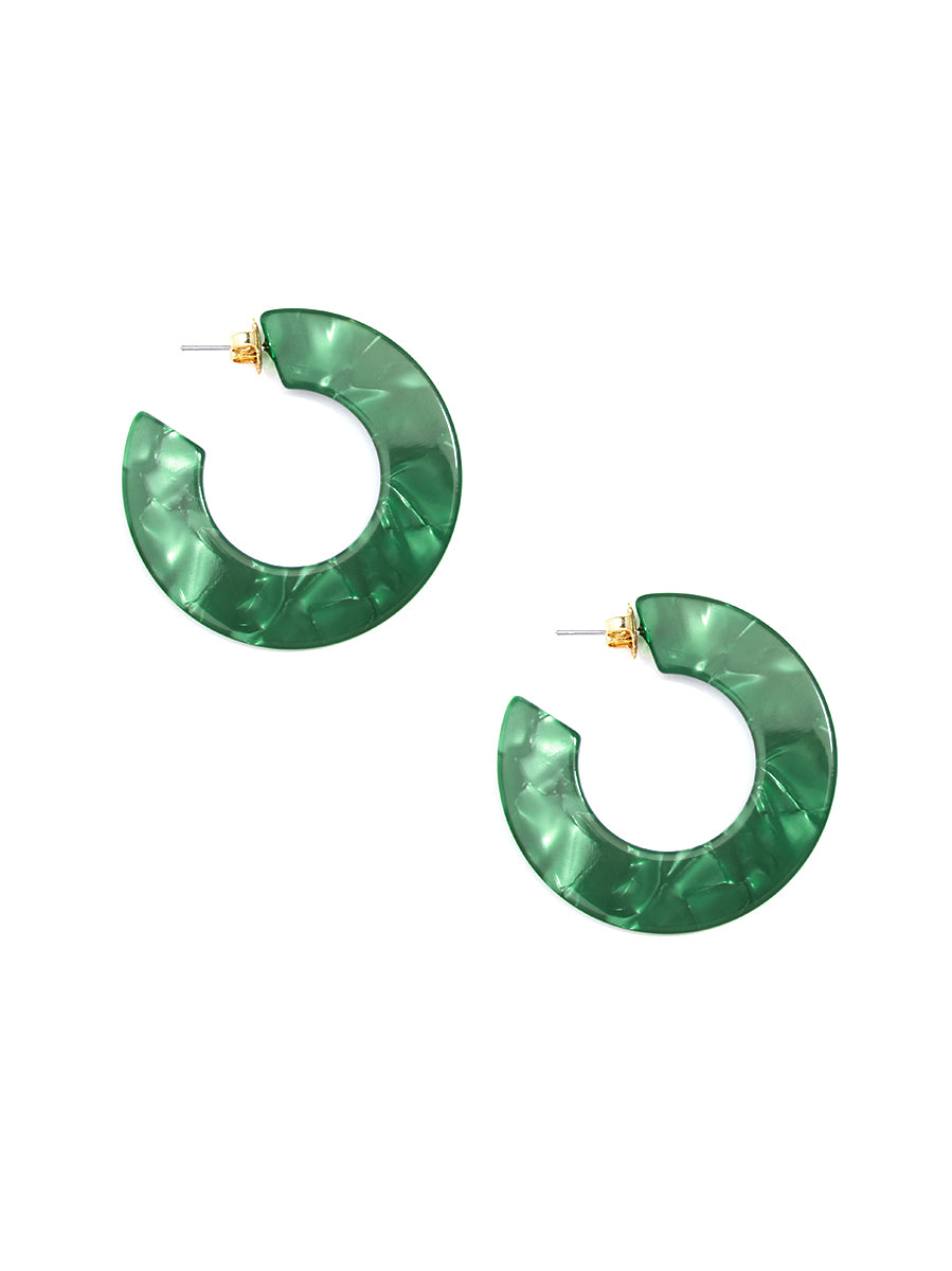 All About Hue Hoop Earring