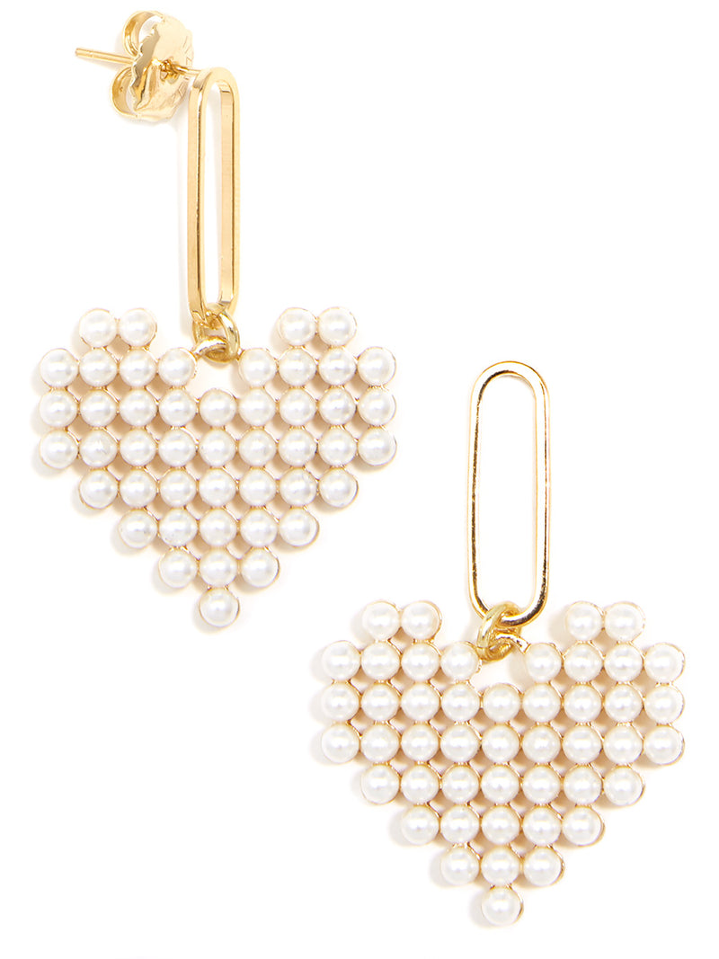 Bead of My Heart Pearl Drop Earring