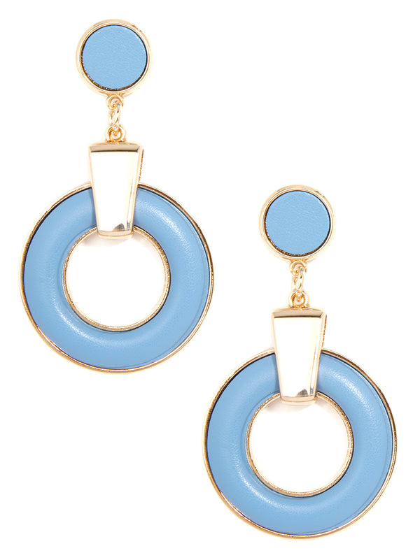 Bohemian Flair Faux Leather Drop Earring