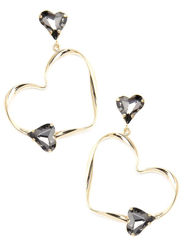 Love Story Crystal Drop Earring
