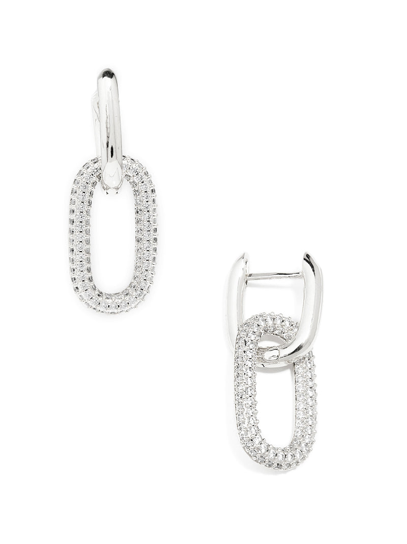 Athena Crystal Link Drop Earring