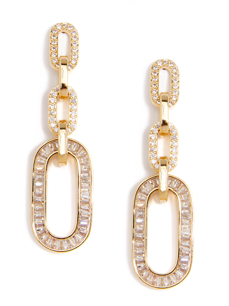 Carole Crystal Link Drop Earring