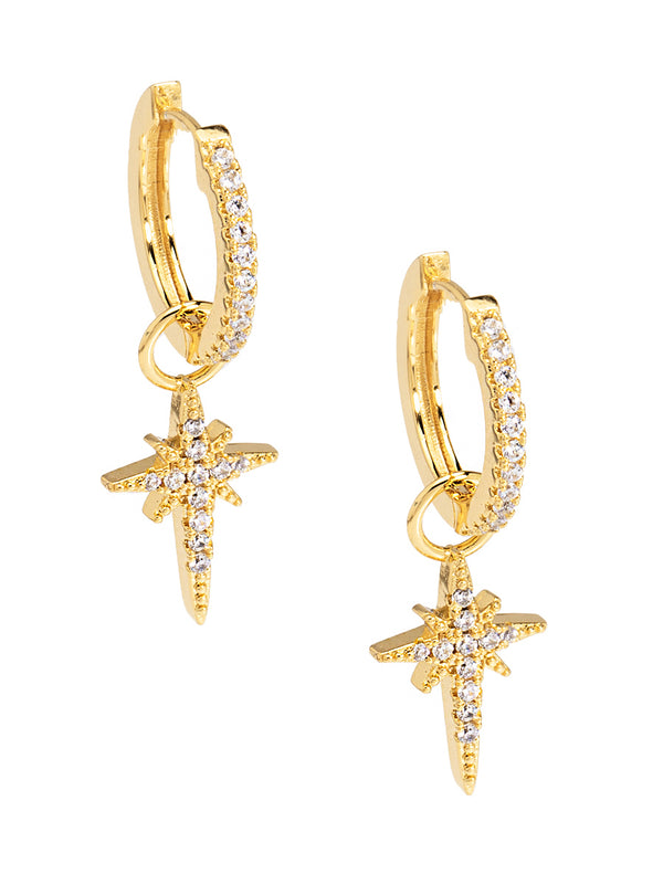 Madge Crystal North Star Earring