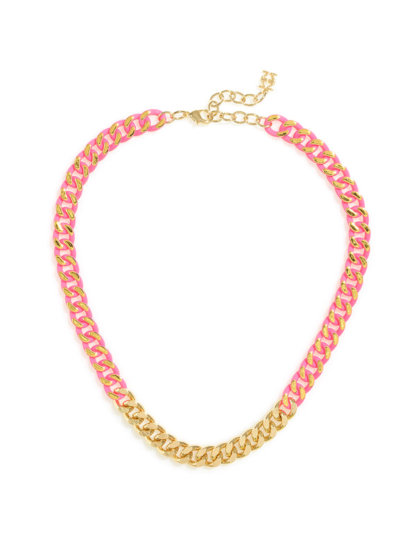 Touch of Color Chain Collar Necklace