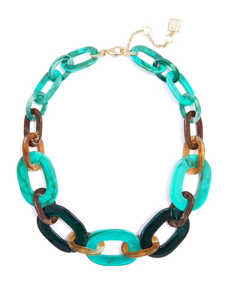 Marbled Moment Collar Necklace
