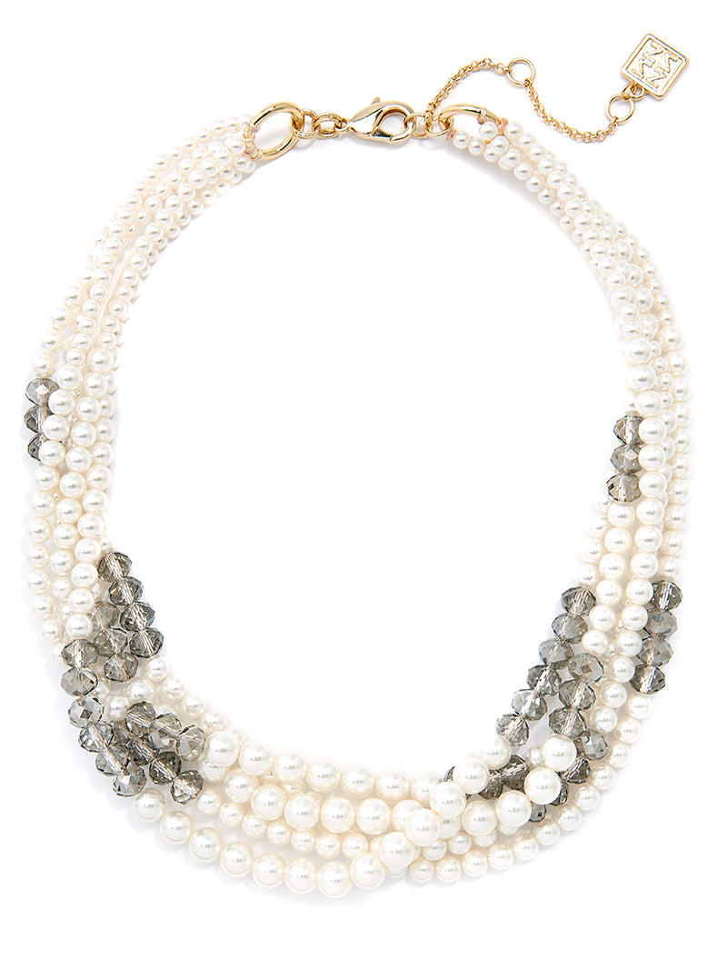 Pearls Night Out Bib Necklace