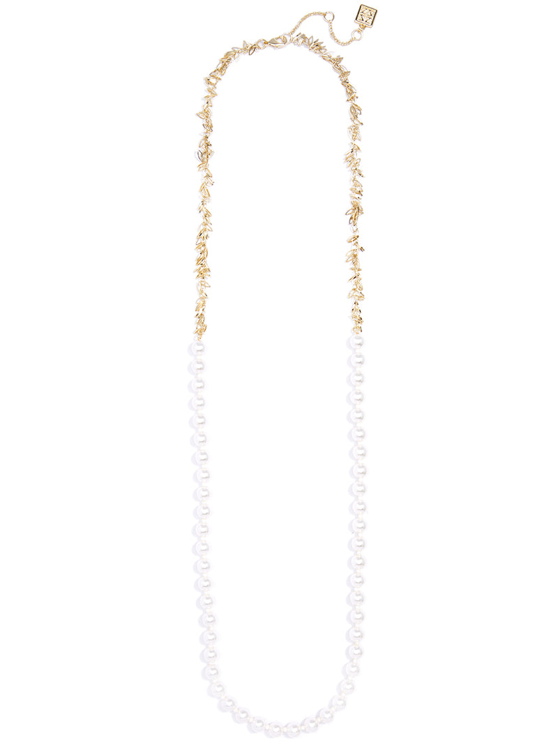 Radiant Pearl Long Necklace