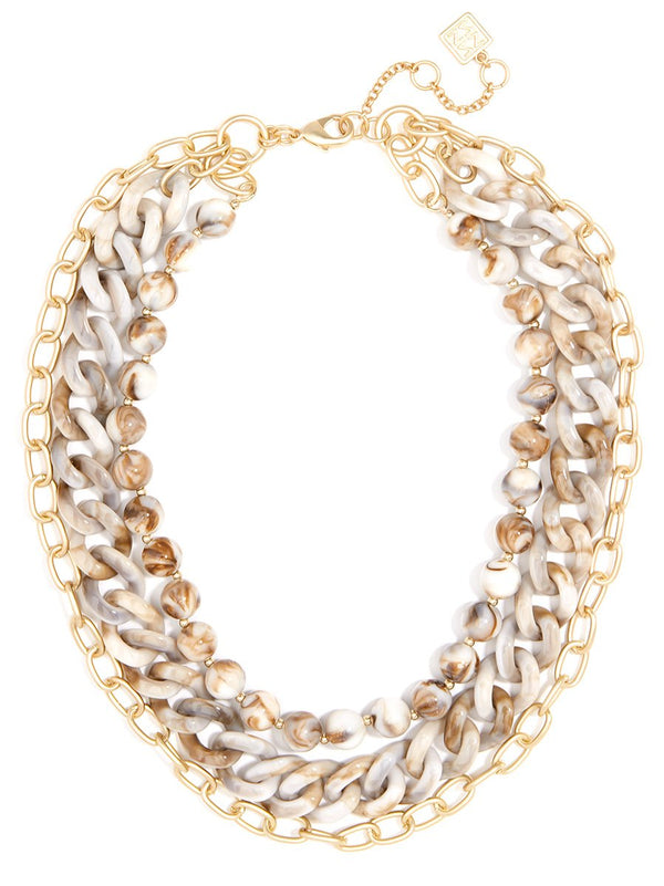 Modern Marvel Chain Collar Necklace