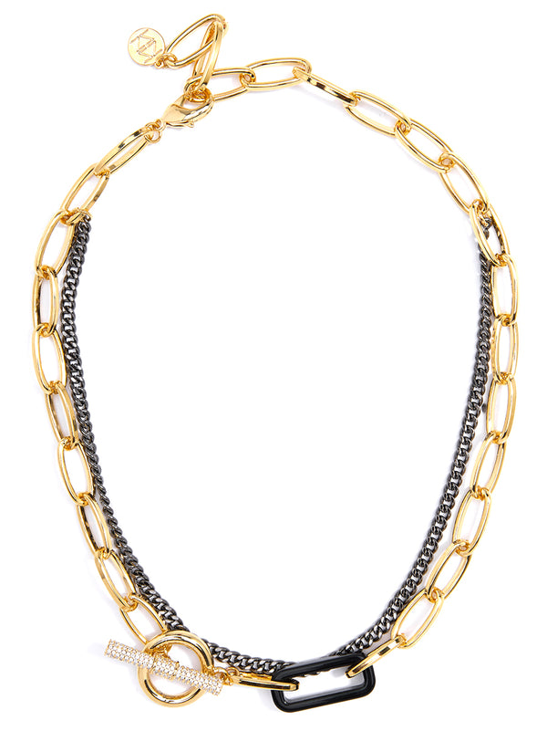 The Muse Crystal Toggle Collar Necklace