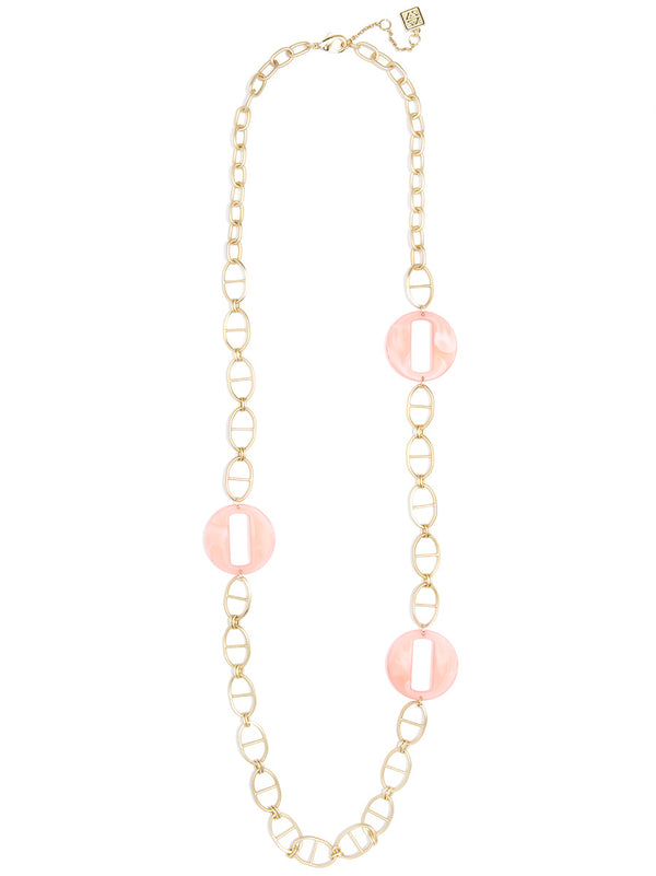 Cloud Links and Mariner Chain Long Necklace