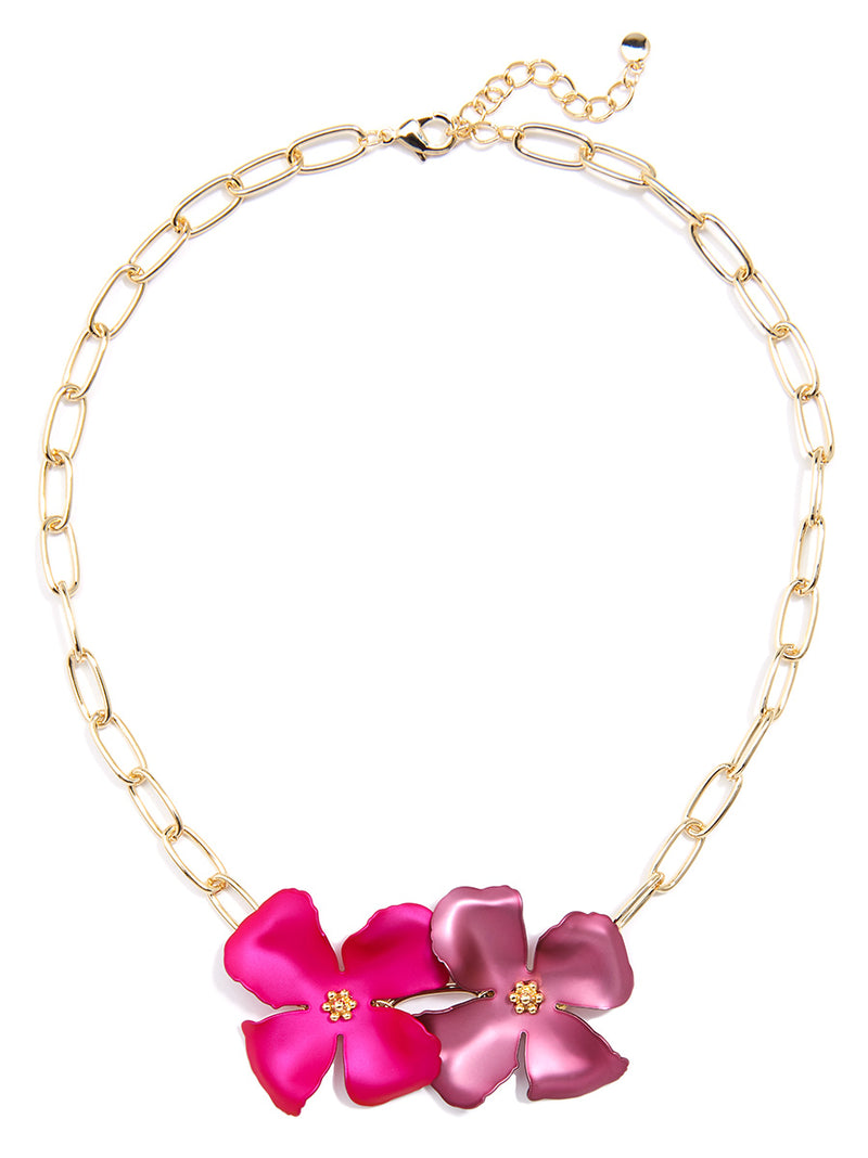Chroma Metals Chain Collar Necklace