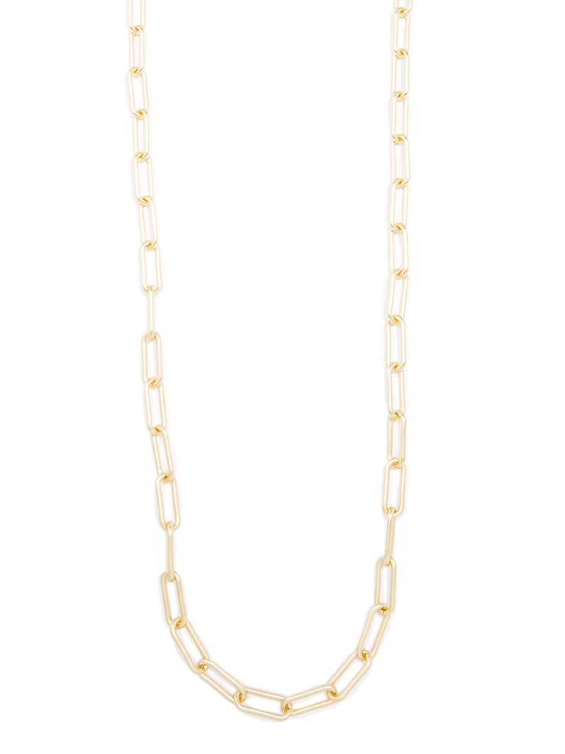 Angela Paperclip Link Long Necklace