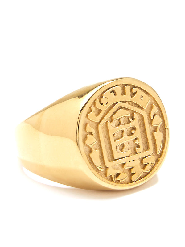 Engraved Crest Ring