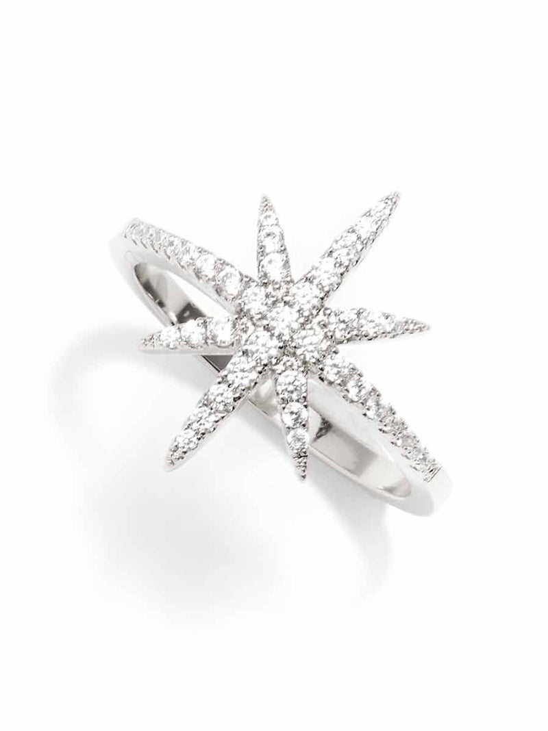 Madge Crystal Starburst Ring