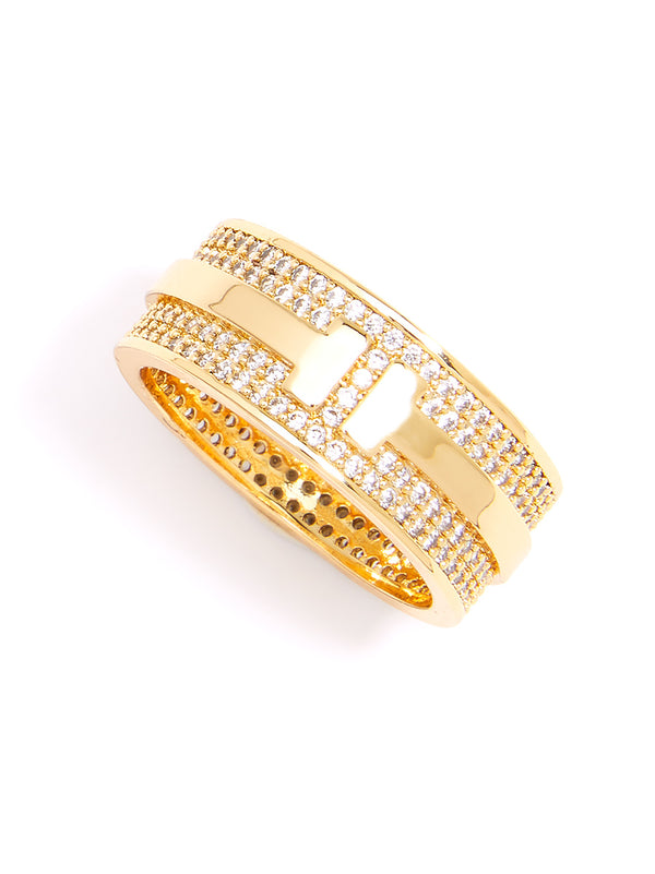 Dolly Crystal Band Ring